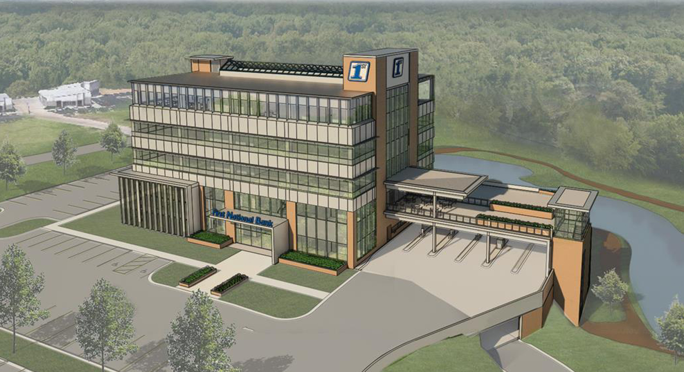 Artists rendering of the First National Financial Park building at 3500 E. Johnson Avenue in Jonesboro