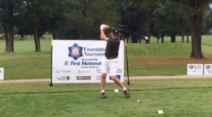 Arkansas Governor Asa Hutchinson tees off at the ASP Foundation Golf event.
